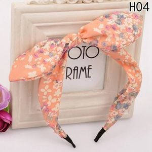 New cute Pink Floral Print Bow Top Hair Band